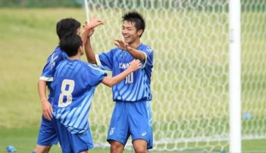 神奈川は栗原の2得点などで快勝しベスト8に名乗り・・・2016年度第71回国民体育大会いわて国体サッカー少年男子の部